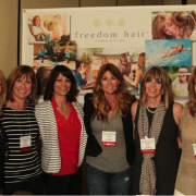 (L-R) Kim Karacz, Second Nature Hair Stephanie Rogers, Livin' Life Hair Sandra Fournier, Western Canada Jody Gorski, Resilience Hair Group Karen Peterik, New Life Hair Donna Schillaci, My Image by Donna